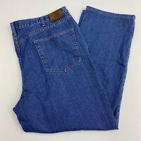 Lands' End Square Rigger Denim Jeans Mens 46 Blue Straight Leg Medium Washed