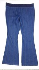 New Addition Maternity Pull On No Pockets Bell Bottom Flare Dark Jeans Size M