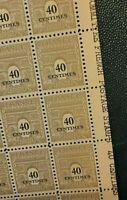 FRANCE    SHEET 100 stamps ARC DE TRIOMPHE 40 centimes 1945 MNH