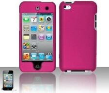 New Hard Rubberized Case Cover for iPod Touch 4th Gen 4G - Hot Pink