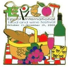 EPCOT FOOD & WINE FESTIVAL 2000 PICNIC BASKET LE 5100 PIN 2829