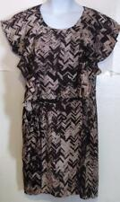 New NWT Gap misses size brown zig zag shift dress j69