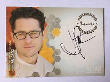 Alias Season 1 Auto trading Card A2 Director J.J Abrams Star Wars Trek Inkworks