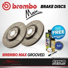 Brembo Max Front Vented High Carbon Grooved Brake Disc Pair Discs x2 09.9165.75