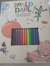 Roald Dahl Create And Colour Set With Colouring Pens