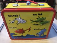 DR SEUSS ONE FISH TWO FISH RED FISH BLUE FISH 2015 COLLECTOR METAL TIN LUNCH BOX