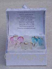 BLESSING Box Gift GUARDIAN Angels x 3 Glass@RELIGIOUS PRAYER MESSAGE Verse Care