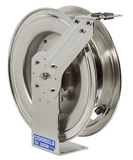 NEW! COXREELS SPRING DRIVEN HOSE REEL, STAINLESS STEEL, OXY / ACT 300 PSI Max.