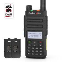 US Radioddity GD-77 VHF UHF Tier II DMR Digital Analog Two way Radio + Battery