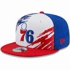 Philadelphia 76ers New Era Youth Splatter 9FIFTY Snapback Hat - White