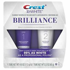 Crest 3d White Brilliance Daily Cleansing Toothpaste and Whitening GEL System 7