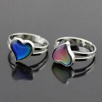 Fashion Magic Temperature Emotion Feeling Mood Ring Color Change Heart Shape
