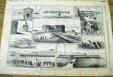 1873 NY Daily Graphic newspaper w poster of VIEWS of GOVERNORS ISLAND New York