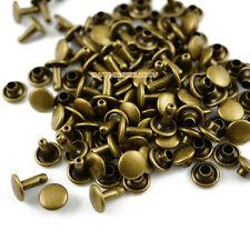 500 set 8*8mm Antique Brass Double Cap Round Rapid Rivet Leathercraft Rivet