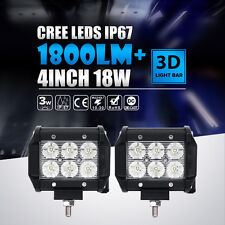 """2x 4""""INCH 18W CREE LED WORK LIGHT BAR FLOOD OFFROAD DRIVING FOG MOTORCYCLE TRUCK"""