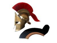 300 KING LEONIDAS SPARTAN HELMET W/RED PLUME, GREEK HELMET LARP REPLICA
