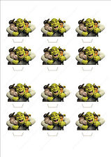 Novelty Shrek & Friends Edible Cake Cupcake Toppers Decorations Birthday Fun