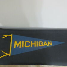 Vintage 1940's Felt or wool Full Size 28 inch pennant Michigan