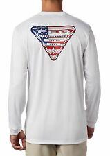 Mens Columbia Pfg Terminal Tackle Country Triangle Omni-Shade L/S T-Shirt - Xl