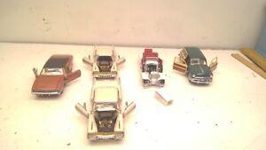 Vintage Lot of 5 Franklin Mint Diecast Cars  1:43 scale (D32)