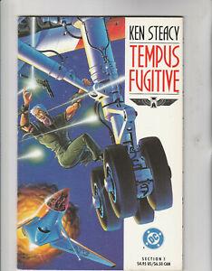DC Paperback Comic Strip Book - TEMPUS FUGITIVE Section 1 By Ken Steacy (1990)