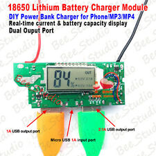 5V Dual USB LCD li-ion Lithium 18650 Battery Charger Module DIY Phone Power Bank