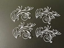 HANDMADE BEAUTIFUL DIE CUT & EMBOSSED ORNATE DETAILED FLOURISHES