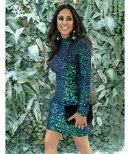Forever Unique Women's Rosalyn Sparkling Sequin Bodycon Dress - Green