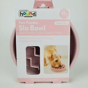 Outward Hound Fun Feeder Slo Bowl For Dogs Small Tiny Pink Pets Cats 3/4 Cup