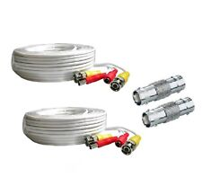 *2 PACK PREMIUM 60Ft.HD BNC EXTENSION CABLES FOR Night Owl HD Camera WH