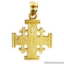 New 14k Gold Jerusalem Cross Pendant