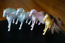 PLAY Set Lot Princess HORSES White Yellow Pink for Polly Pocket Doll Figures Toy