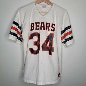 Vintage Rawlings Chicago Bears Walter Payton White T-shirt Mens XL