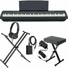 Yamaha P-125 Black COMPLETE BUNDLE Digital Piano W/ Stand, Bench, and More!
