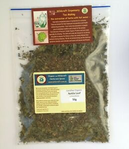 STINGING NETTLE LEAF 50g Tea Urtica dioica Certified Organic herbal DRIED HERB