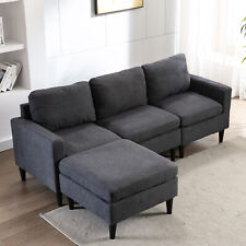 Sectional Sofa Modern Couch L-Shaped 3-Seat Sofa Lounge Living Room Apartment