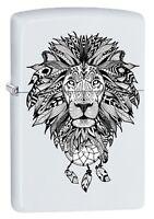 Zippo Lighter: Aztec Lion - White Matte 79485