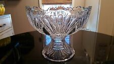 Antique Hiesey 6 Cup Punch Bowl On Matching Base