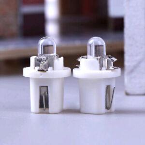 10Pcs T5 B8.5D 5050 SMD LED Lamp 12V Car Instrument Dashboard Light Bulbs White