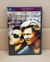 Cutter's Way (DVD, 2001) MGM 1981 Movie With Insert Jeff Bridges John Heard