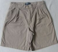 Polo Ralph Lauren Men's Pleated Tyler Khaki Chino Shorts - Tag 33/Measured 31