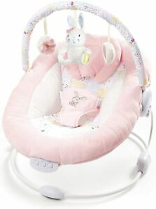 LADIDA Padded Baby Spring Pink Bouncer with Soothing Music Vibrations, 76