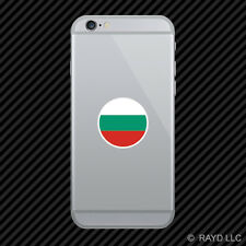 Round Bulgarian Flag Cell Phone Sticker Mobile Bulgaria BGR BG