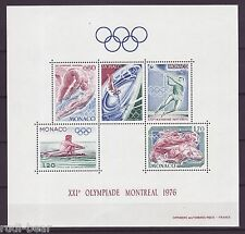 Monaco Block     9  **  Olympische Spiele