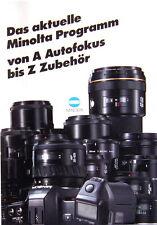 Das aktuelle Minolta Programm Prospekt brochure - (0357)