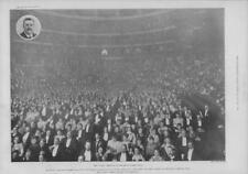 1900 Antique Print -LONDON Royal Albert Hall AMB Festival Bandsmen Concert (348)