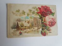 Greeting Postcard Vintage with Sparkles