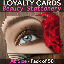 Customer Loyalty Card Beauty Salon Eyelash Extension Lash Lift Beauty Pack of 50