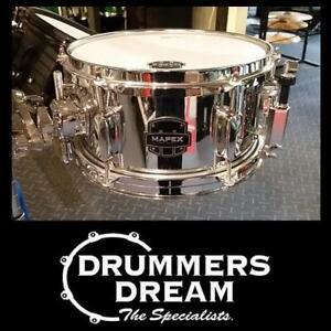 "Mapex MPX 10"" x 5.5 Cheeky Little 10 Popcorn Steel Snare Drum"