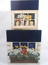Crazy Mountain Floral Boxes Storage/ Nesting/ Stacking Set of 2 Decorative